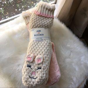 Jane & Becker Plush Bunny Slipper Socks 2 Pack